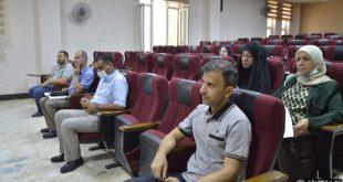 جامعة الكوفة تعقد ورشة عمل بعنوان اللغة وسيلة الاتصال الحضاري والاجتماعي